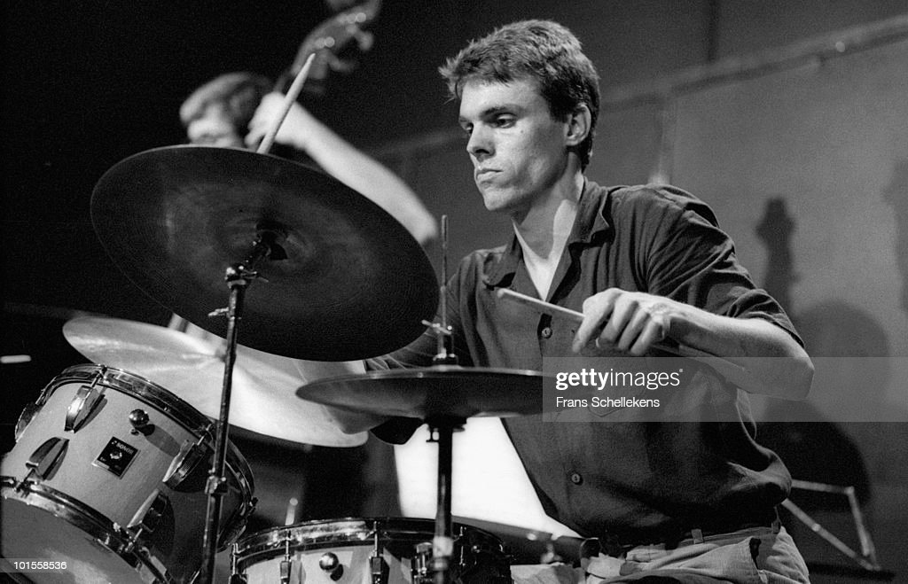 drummer Gerry Hemingway performs live on stage at Bimhuis in Amsterdam, Netherlands on July 05 1986