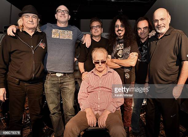 Drummer Ginger Baker of Cream and fellow drummers Alan White of Yes Ty Dennis of ManzarekKrieger Band Modern Drummer's Billy Amendola Frankie Banali...