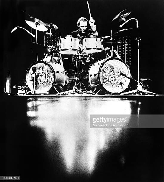Drummer Ginger Baker of the rock group Cream performs onstage circa 1968