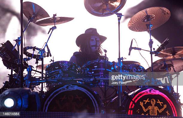Drummer Ginger Fish of Rob Zombie performs live during the 2012 Rock On The Range festival at Crew Stadium on May 20 2012 in Columbus Ohio