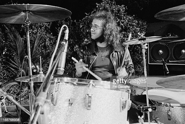 Drummer Ian Paice at the California Jam rock festival, where he performed with English rock group Deep Purple, Ontario Motor Speedway, Ontario,...