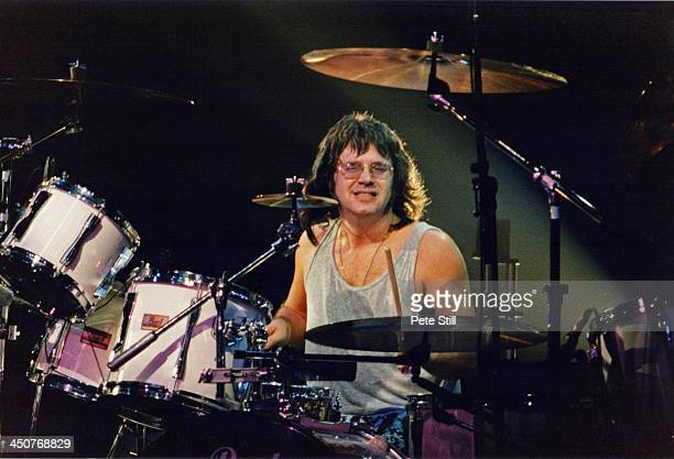 Drummer Ian Paice of Deep Purple performs on stage at Brixton Academy on November 8th 1993 in London England