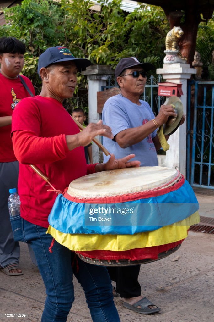 Drummer in a parade. : Stock Photo