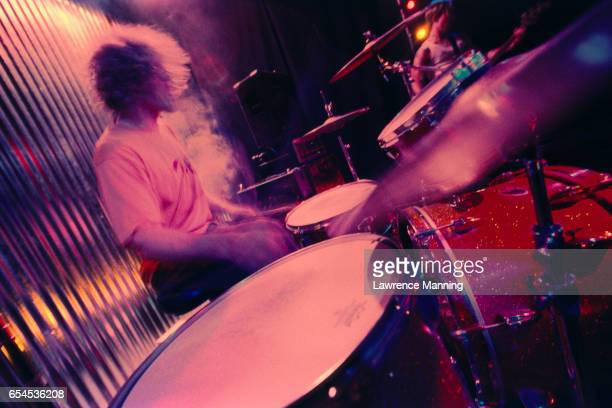 drummer in motion - rock object stock photos and pictures