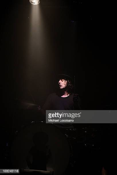 Drummer Jack White of The Dead Weather performs at Don Hill's on August 4 2010 in New York City