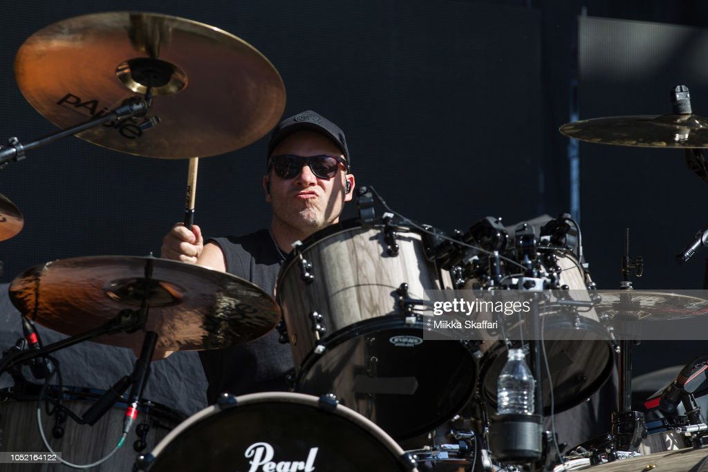 Drummer Jason Bowld Of Bullet For My Valentine Performs At