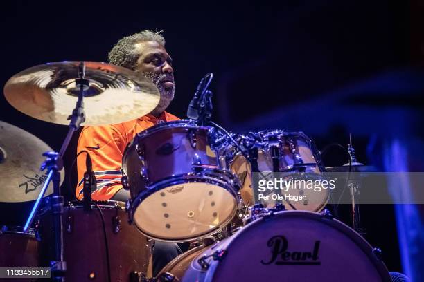 Drummer Jay Davenport with John Mayall performs at Rockefeller on March 3 2019 in Oslo Norway
