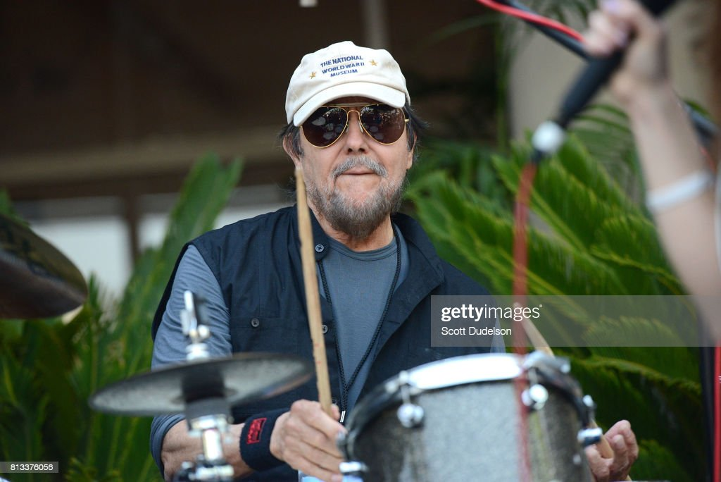 Drummer Jim Keltner performs onstage during Ringo Starr's 77th birthday at the annual 'Peace & Love' celebration at Capitol Records Tower on July 7, 2017 in Los Angeles, California.