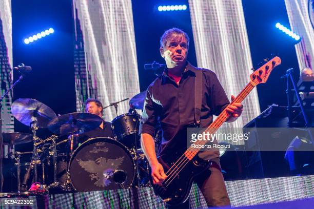 Drummer Jim MacAulay and guitarist and singer JeanJacques Burnel of The Stranglers perform on stage at O2 Academy Glasgow on March 8 2018 in Glasgow...