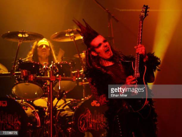 Drummer Joe Franco and guitarist Zak Soulam perform during Van Helsing's Curse an 18piece gothic rock opera at The Joint inside the Hard Rock Hotel...