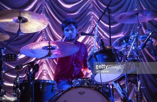 Drummer Joel Amey of Wolf Alice performs at Visulite Theatre on April 17 2018 in Charlotte North Carolina