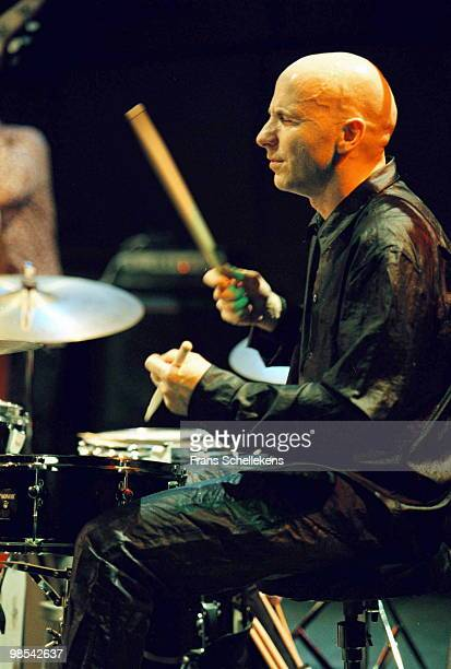 Drummer Joey Barron performs live on stage at Bimhuis in Amsterdam, Holland on November 18 1999