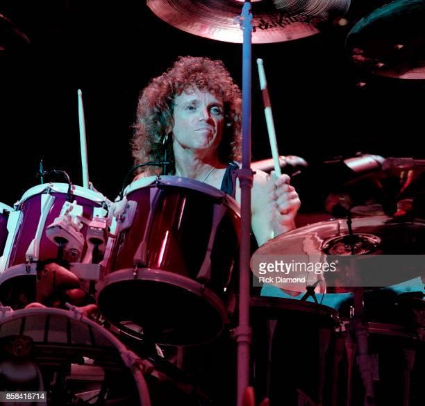 Drummer Joey Kramer of Aerosmith performs at The OMNI Coliseum in Atlanta Georgia May 05 1990