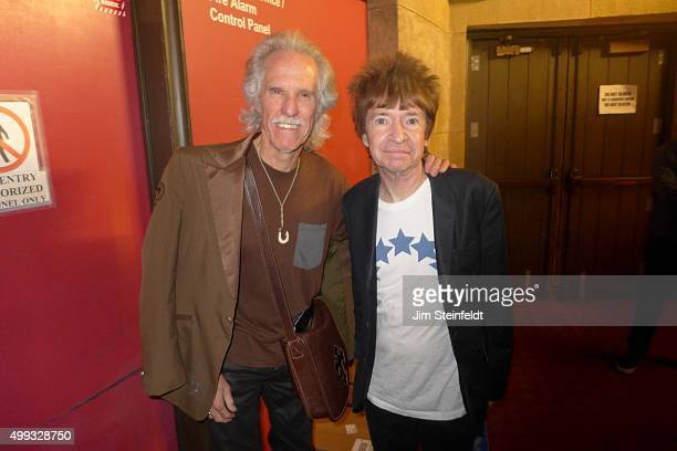 Drummer John Densmore, and Radio DJ Rodney Bingenheimer pose for a portrait at Graumans Egyptian in Los Angeles, California on October 28, 2015.