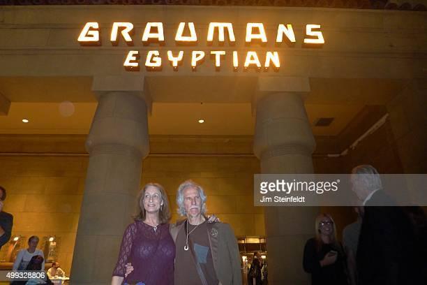 Drummer John Densmore at Graumans Egyptian in Los Angeles, California on October 28, 2015.