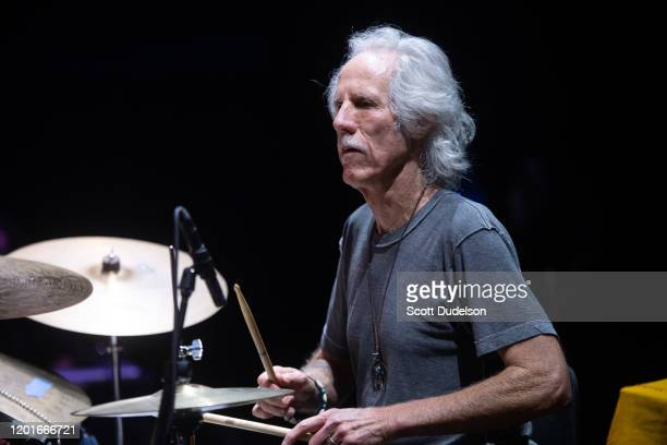 Drummer John Densmore founding member of The Doors performs onstage during Homeward Bound A Benefit for the Homeless Community and PATH at The...