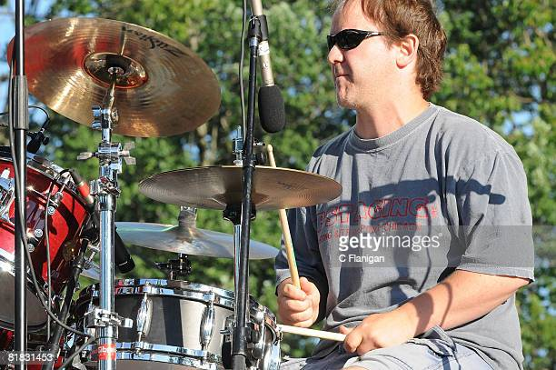 Drummer John Fishman of Phish performs with the Yonder Mountain String Band during the Rothbury Music Festival at the Double JJ Ranch on July 4 2008...