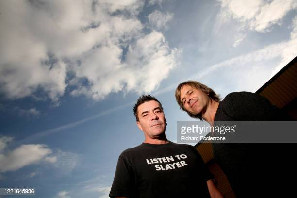 Drummer John Keeble and percussionist and saxophonist Steve Norman of Spandau Ballet United Kingdom 2010