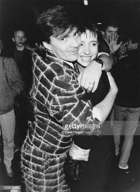 Drummer John Keeble of British pop group Spandau Ballet with his girlfriend 'Flea' at a party held by Prince Charles and Princess Diana at a...