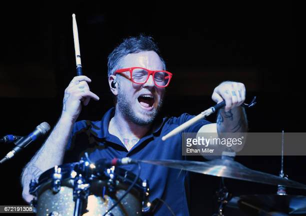 Drummer Josh Eppard of Coheed and Cambria performs during the Las Rageous music festival at the Downtown Las Vegas Events Center on April 21 2017 in...