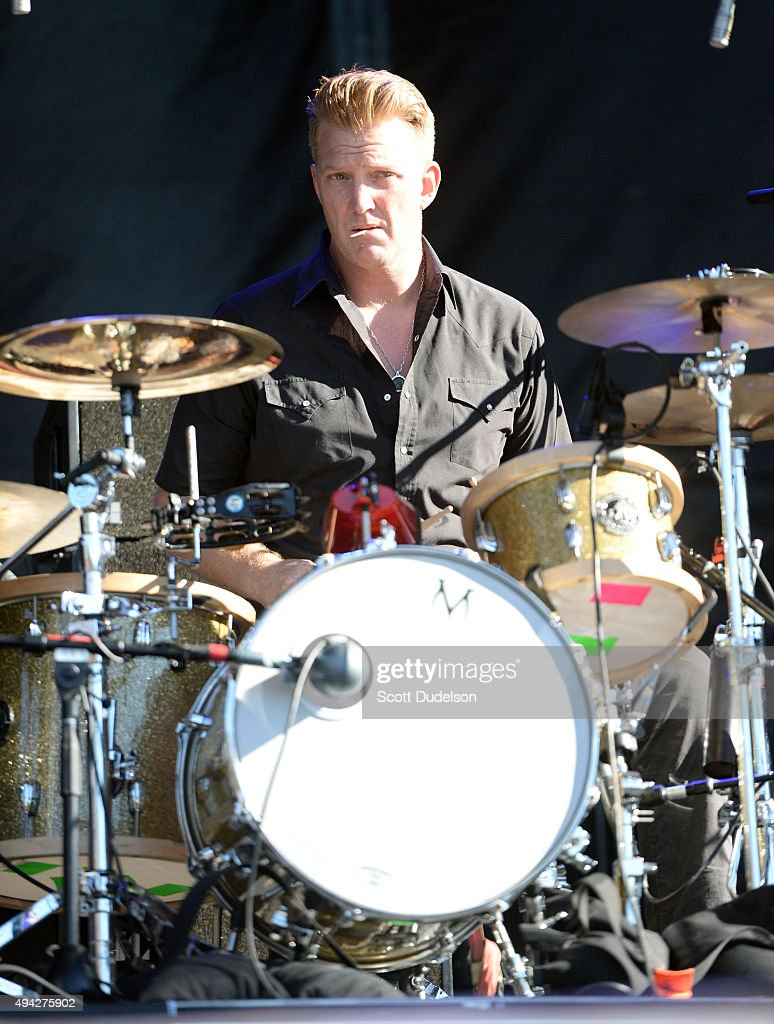 Drummer Josh Homme of Eagles of Death Metal and Queens of the Stoneage performs onstage at Gibson Ranch County Park on October 25, 2015 in Sacramento, California.