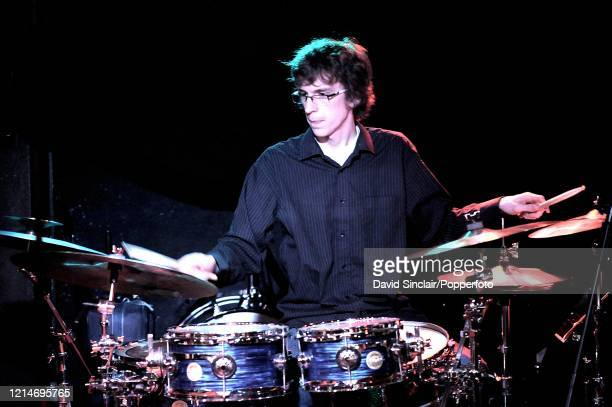 Drummer Joshua Blackmore performs live on stage at PizzaExpress Jazz Club in Soho London on 26th January 2009