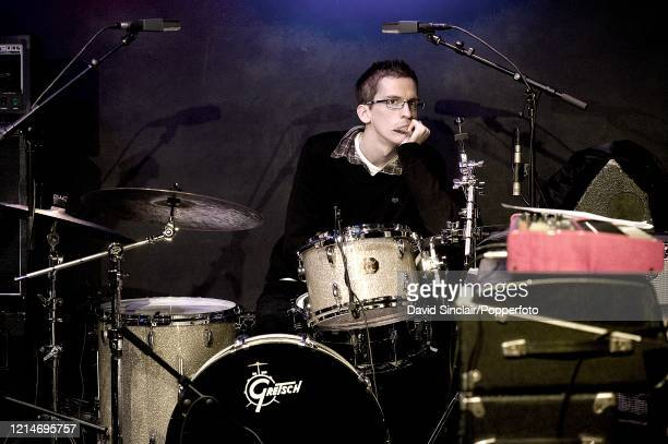 Drummer Joshua Blackmore performs live on stage at Ronnie Scott's Jazz Club in Soho London on 25th October 2010