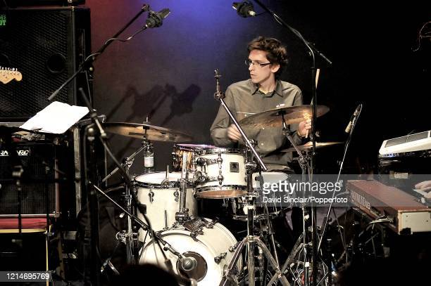 Drummer Joshua Blackmore performs live on stage at Ronnie Scott's Jazz Club in Soho London on 4th January 2010