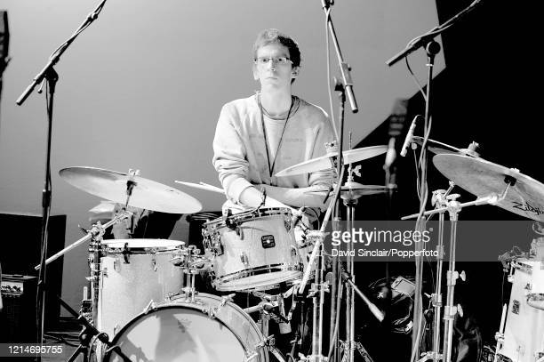 Drummer Joshua Blackmore performs live on stage at the BBC Jazz Awards in London on 21st July 2008