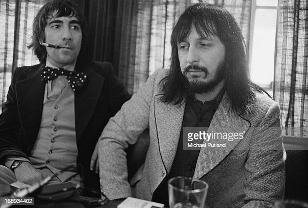 Drummer Keith Moon and bassist John Entwistle , of English rock group The Who, 24th April 1973.