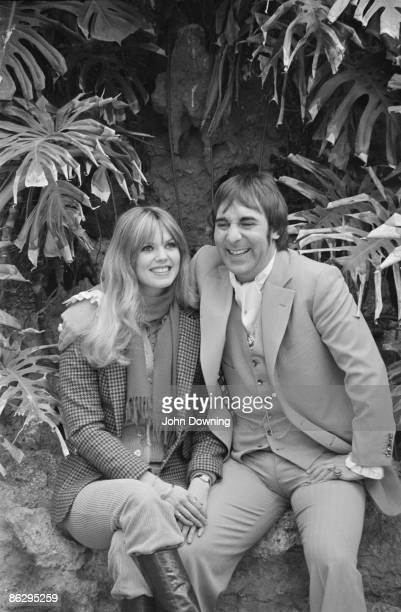 Drummer Keith Moon of British rock group The Who with his girlfriend Swedish model Annette WalterLax 11th February 1978