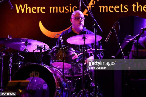 Drummer Kevin Winard performs onstage with Steve Tyrell at The Canyon Club on January 12 2018 in Agoura Hills California