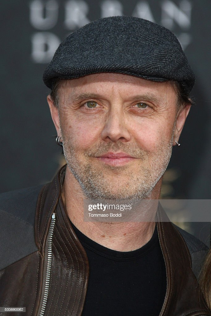 Drummer Lars Ulrich attend the premiere of Disney's 'Alice Through The Looking Glass' at the El Capitan Theatre on May 23, 2016 in Hollywood, California.