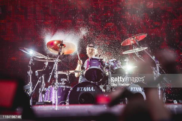 Drummer Lars Ulrich of the american band Metallica performs live on stage during a concert at Olympiastadion on July 6 2019 in Berlin Germany