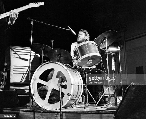 Drummer Levon Helm of The Band performs on stage in Hamburg Germany May 1971