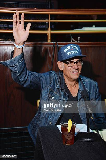 Drummer Liberty DeVitto judges the Big Kids Rock A Battle Of The Bands To Benefit Little Kids Rock at Hard Rock Cafe Times Square on June 12 2014 in...