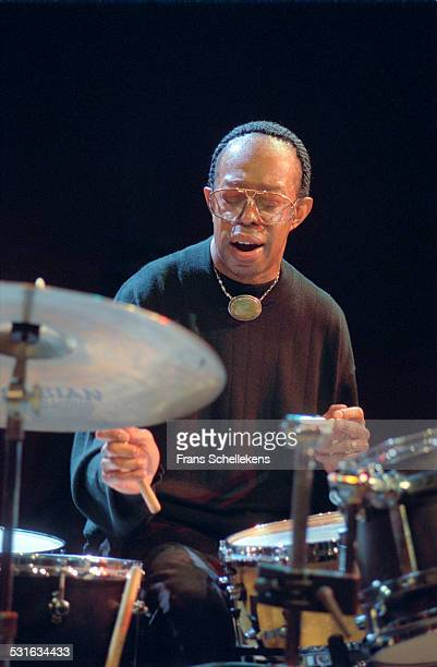 Drummer Louis Hayes performs on January 19th 2001 at the BIM huis in Amsterdam, Netherlands.