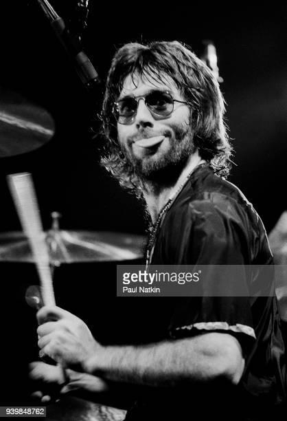 Drummer Manuel Charlton of Nazareth at the Riverside Theater in Milwaukee Wisconsin November 17 1977