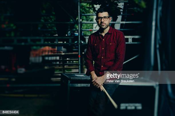 Drummer Mark Guiliana known for his recording on David Bowie's last album Black Star posing for portraits at Jazz Middelheim Festival on August 06...