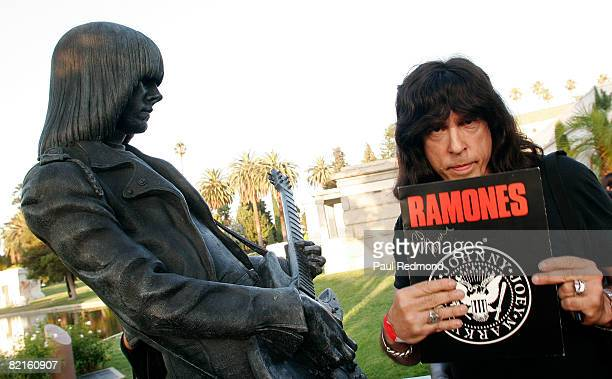 Drummer Marky Ramone at the Tribute To Legendary Ramones Guitarist Johnny Ramone at the Hollywood Forever Cemetery on August 1 2008 in Hollywood...
