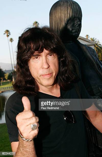 Drummer Marky Ramone attends the Tribute To Legendary Ramones Guitarist Johnny Ramone at the Hollywood Forever Cemetery on August 1 2008 in Hollywood...
