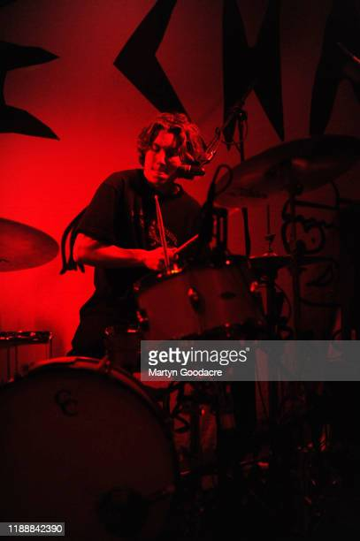 Drummer Matt Boggis of The Chats performs on stage at Cassiopeia November 18 2019 in Berlin Germany