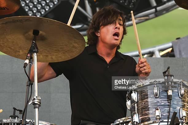 Drummer Matt Flynn of Maroon 5 performs at 1027 KIIS FM's Wango Tango at StubHub Center on May 10 2014 in Los Angeles California