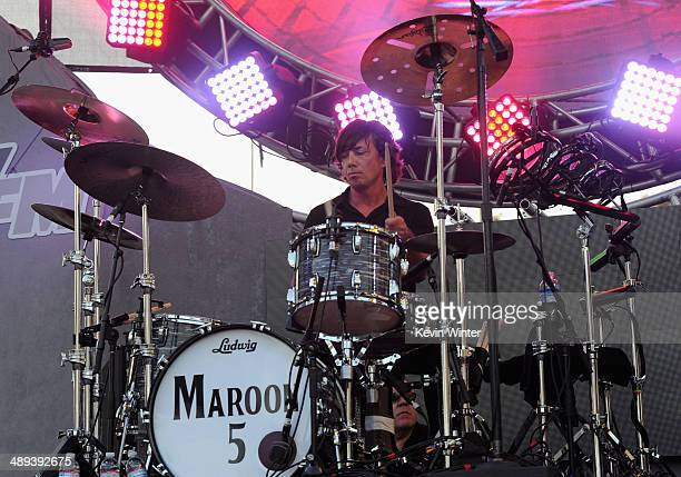 Drummer Matt Flynn of Maroon 5 performs onstage during 1027 KIIS FM's 2014 Wango Tango at StubHub Center on May 10 2014 in Los Angeles California