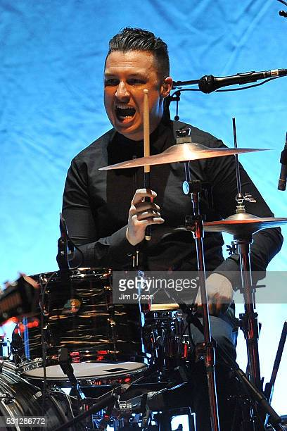 Drummer Matt Helders performs live on stage with Iggy Pop during the Post Pop Depression tour at the Royal Albert Hall on May 13 2016 in London...