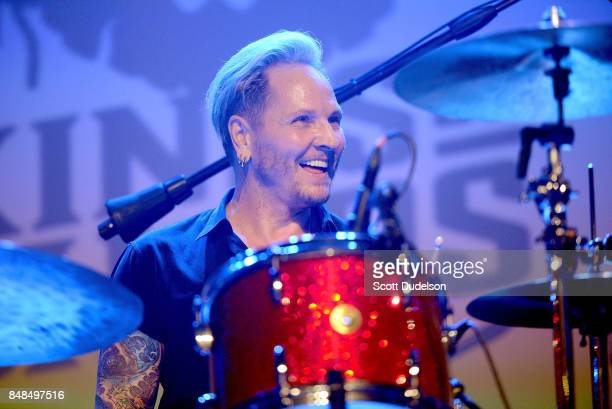 Drummer Matt Sorum of Kings of Chaos Velvet Revolver and Guns n' Roses performs onstage during the second annual Rock for Recovery benefit concert at...