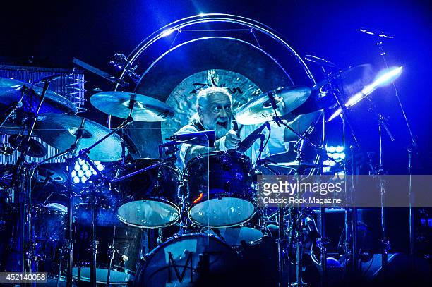 Drummer Mick Fleetwood of English rock group Fleetwood Mac performing live on stage at the O2 Arena in London on September 27 2013