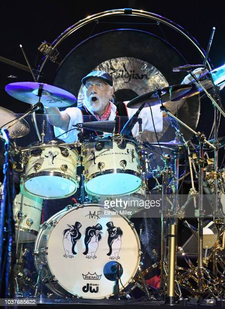 Drummer Mick Fleetwood of Fleetwood Mac performs during the 2018 iHeartRadio Music Festival at TMobile Arena on September 21 2018 in Las Vegas Nevada