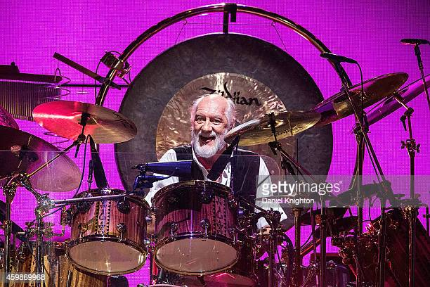 Drummer Mick Fleetwood of Fleetwood Mac performs on stage at Viejas Arena on December 2 2014 in San Diego California
