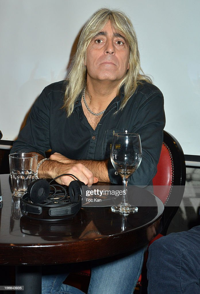 Drummer Mickey Dee from Motorhead band attends 'Motorheadphones' Press Conference at the Hard Rock Cafe on November 22, 2012 in Paris, France.
